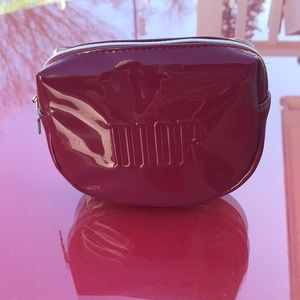 Dior patent leather cosmetics bag new